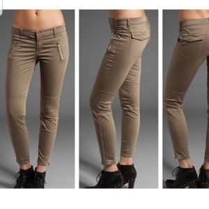 J Brand Skinny Agnes Taupe Ankle Zip Brown Jeans